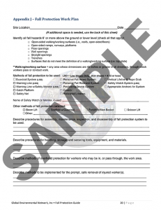 Sample California Fall Protection Checklist